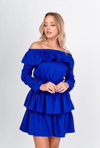 Sukienka ZOiO.pl mini z dekoltem w łódkę z odkrytymi ramionami