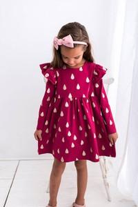 Sukienka dziewczęca Myprincess / Lily Grey w groszki