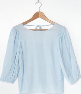 Niebieska bluzka House w stylu casual