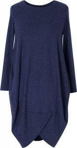 Sukienka Sklep XL-ka z długim rękawem