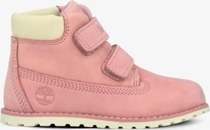 Różowe buty dziecięce zimowe Timberland