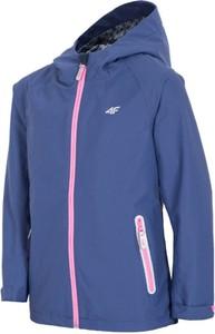 Niebieska kurtka dziecięca 4F dla dziewczynek