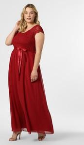 Czerwona sukienka Swing Curve z szyfonu