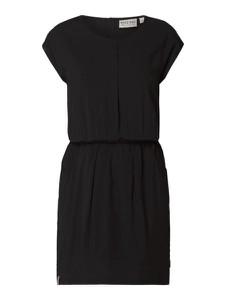 Czarna sukienka Naketano z okrągłym dekoltem