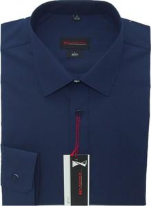 Granatowa koszula Klasyka Kielce z długim rękawem