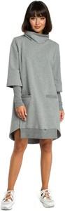 Sukienka Merg z golfem w stylu casual