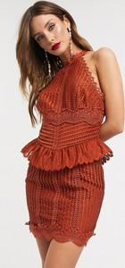 Brązowa sukienka Asos Design bez rękawów