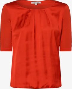 Czerwona bluzka comma, z długim rękawem z satyny