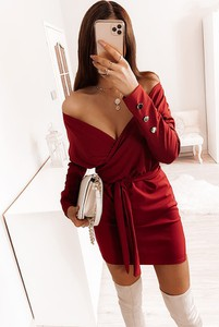 Sukienka Pakuten mini w stylu casual dopasowana