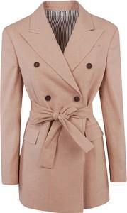 Różowy płaszcz Brunello Cucinelli