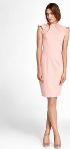 Różowa sukienka Nife ołówkowa