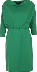 Zielona sukienka Top Secret mini w stylu casual prosta