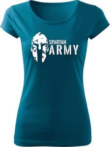 Niebieski t-shirt Waragod z okrągłym dekoltem z krótkim rękawem