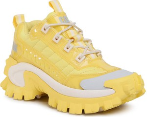 Żółte buty sportowe Caterpillar w sportowym stylu