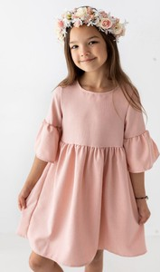 Różowa sukienka dziewczęca Myprincess / Lily Grey z tkaniny