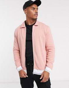 Różowa kurtka Asos z dżerseju w stylu casual