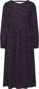 Sukienka Tom Tailor Denim z okrągłym dekoltem w stylu casual z długim rękawem