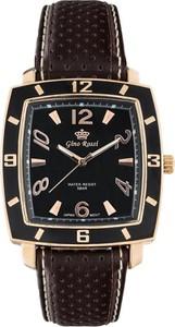 ZEGAREK MĘSKI GINO ROSSI - MIDNIGHT II (zg140e) + BOX - Brązowy    Różowe złoto