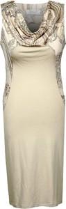 Sukienka Fokus midi z dekoltem woda bez rękawów