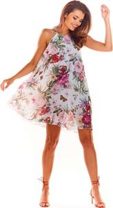 Sukienka Awama mini oversize z dekoltem halter