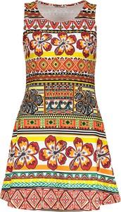 Sukienka 101 Idees mini z okrągłym dekoltem bez rękawów