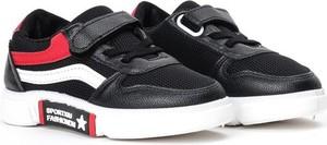 Czarne buty sportowe dziecięce Royalfashion.pl sznurowane dla dziewczynek