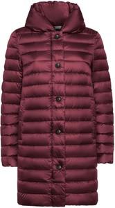 Czerwony płaszcz Geox w stylu casual