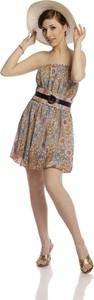 Sukienka Fokus bez rękawów rozkloszowana midi