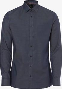 Niebieska koszula Olymp No. Six z klasycznym kołnierzykiem z długim rękawem