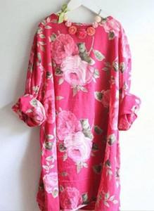 Różowa sukienka Cikelly z długim rękawem