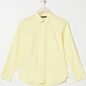 Żółta koszula Sinsay z długim rękawem z kołnierzykiem