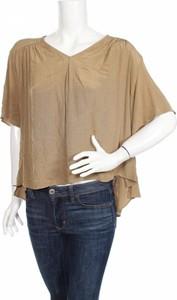 Brązowa bluzka Anna Glover X H&m w stylu casual