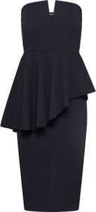 Czarna sukienka BooHoo bez rękawów mini