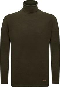 Zielony sweter Sir Raymond Tailor z bawełny w stylu casual