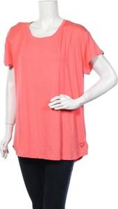 Różowa bluzka Alife And Kickin z krótkim rękawem z bawełny