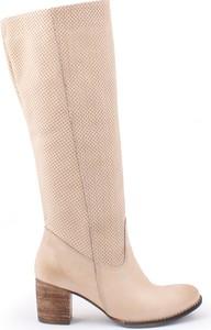Zapato kozaki - skóra naturalna - model 155 - kolor beż