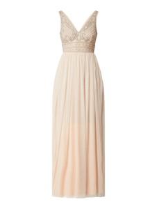 Sukienka Lace & Beads rozkloszowana z tiulu maxi