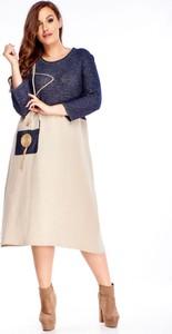 Sukienka N/A midi dla puszystych