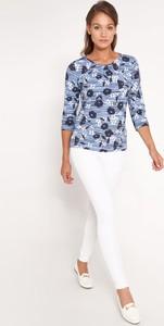Niebieska bluzka QUIOSQUE w stylu casual