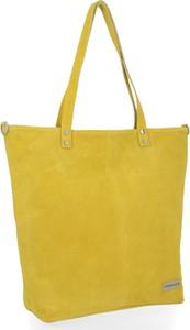 Żółta torebka VITTORIA GOTTI w wakacyjnym stylu na ramię