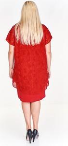 Sukienka Fokus dla puszystych z tkaniny z krótkim rękawem