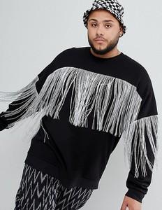 Czarna bluza Asos z dresówki