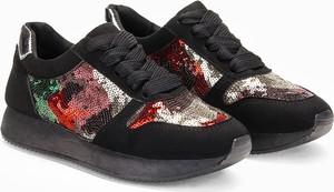 Larica buty sportowe z cekinami czarne lr060