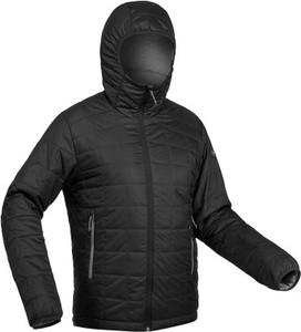 Czarna kurtka Forclaz ze skóry ekologicznej