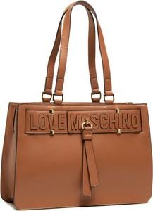 Brązowa torebka Love Moschino duża