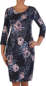 Sukienka POLSKA midi z długim rękawem