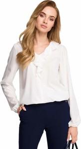 Bluzka Style z długim rękawem z żabotem