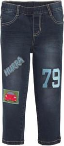Granatowe jeansy dziecięce arizona z nadrukiem