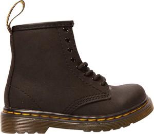 Czarne buty dziecięce zimowe Dr. Martens sznurowane ze skóry