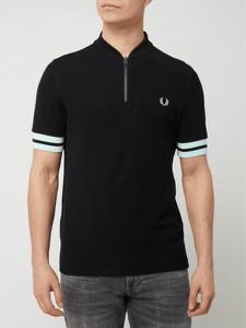 Czarny t-shirt Fred Perry z krótkim rękawem w stylu casual